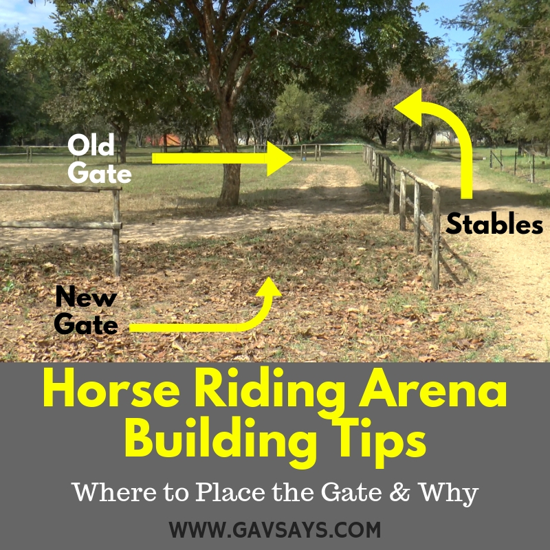 Horse Riding Arena Building Tips: Where to Place the Gate & Why