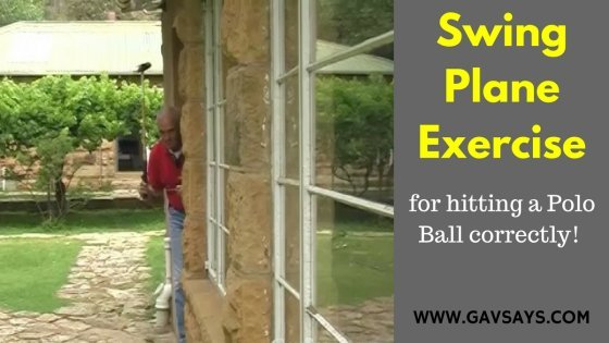 Swing Plane Exercise - Polo Playing Tutorials