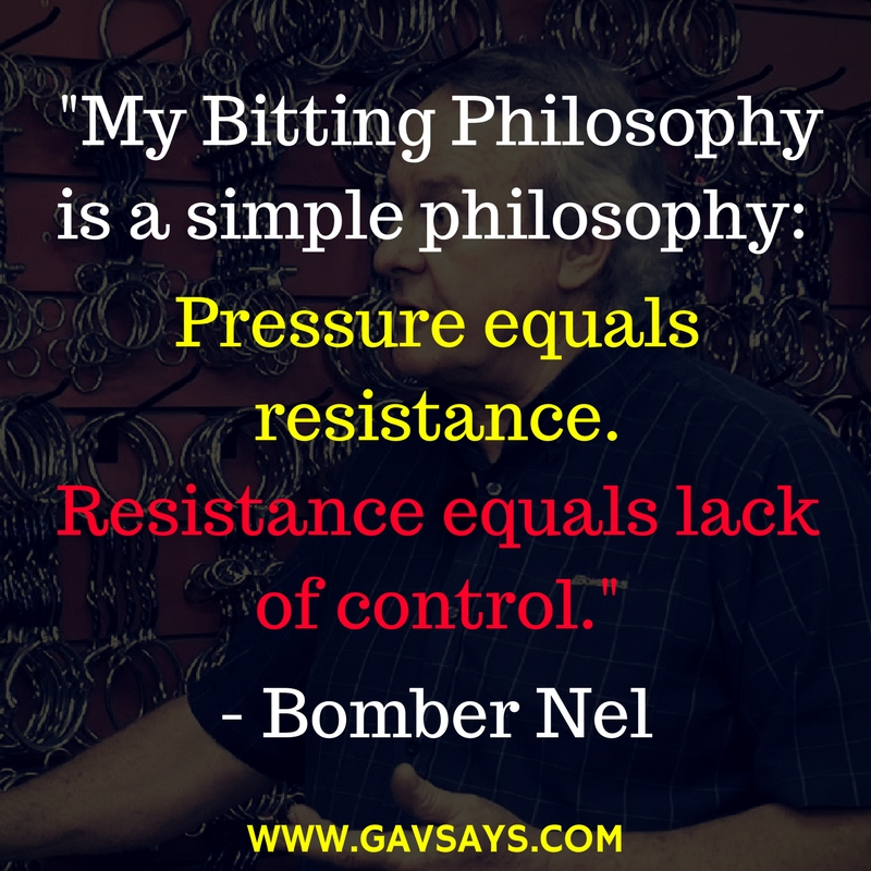 Bomber Nel's Bitting Philosophy: Find out more about this guest expert of GavSays.com.