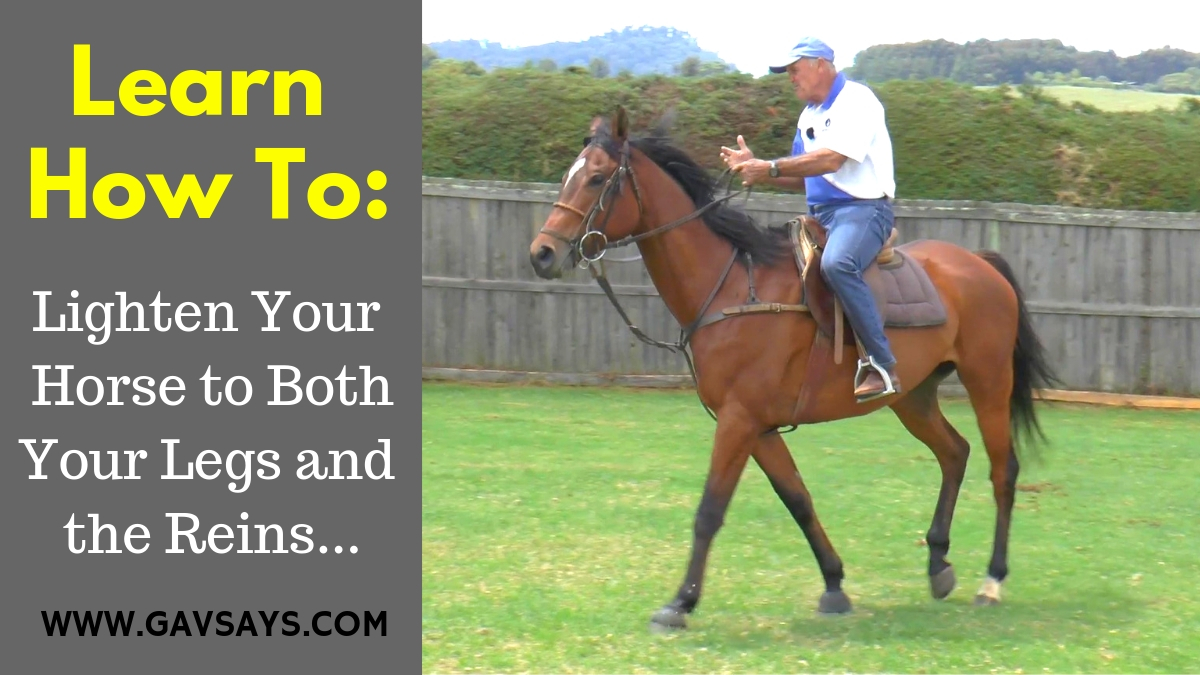 How to Lighten Your Horse to Both Legs and Reins