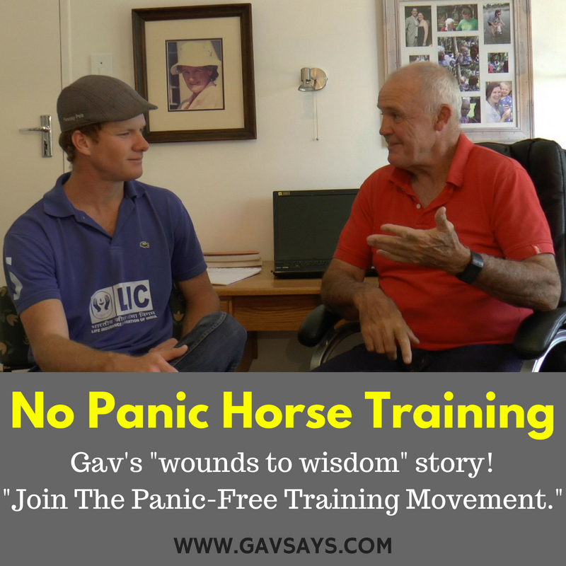 No Panic Training - Gav's Dyslexia & Relating it to Horse Training