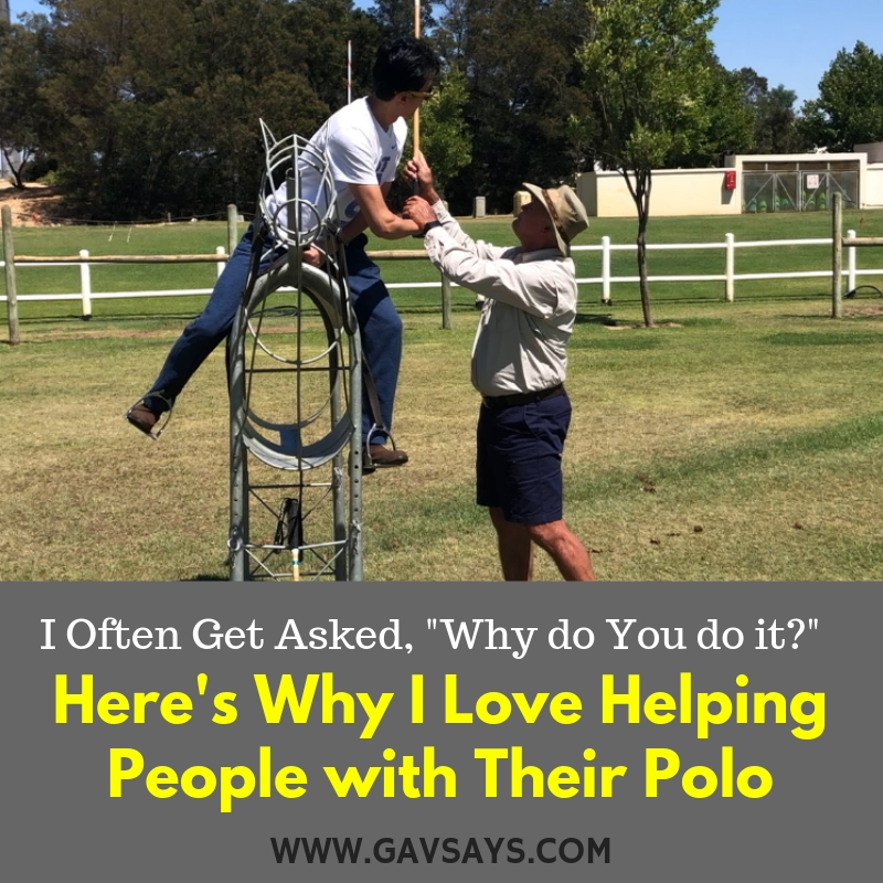 Polo: Why I Do This, Why I Help People with Their Polo