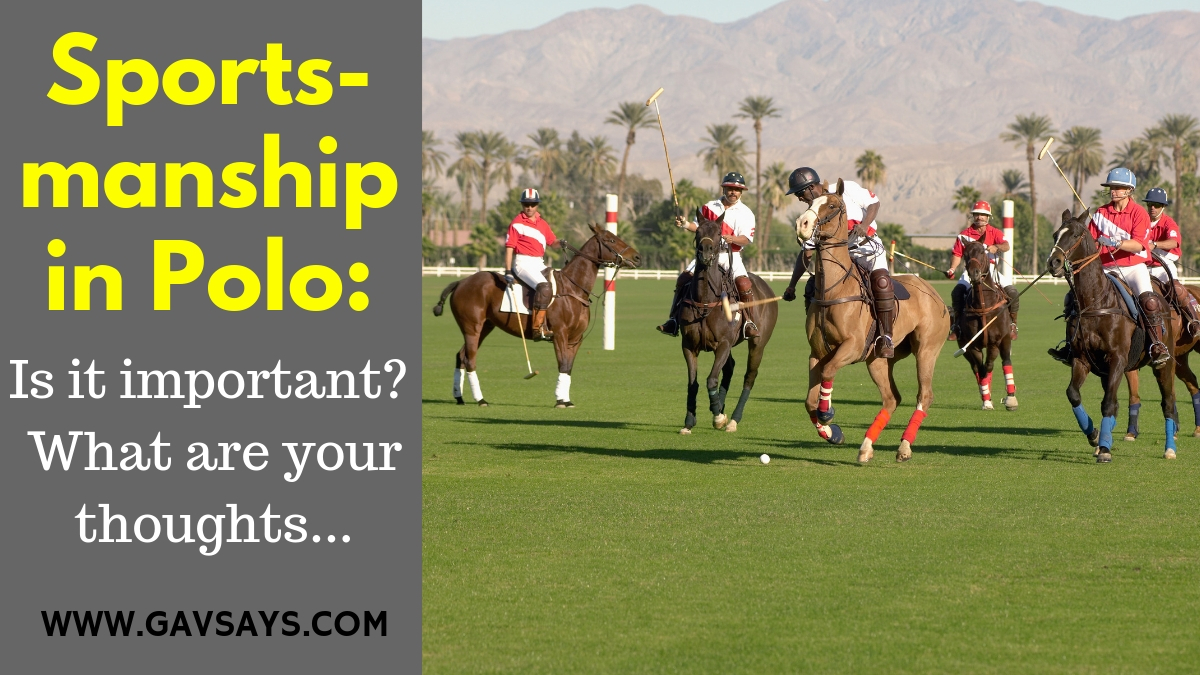 Is Sportsmanship in Polo Important?