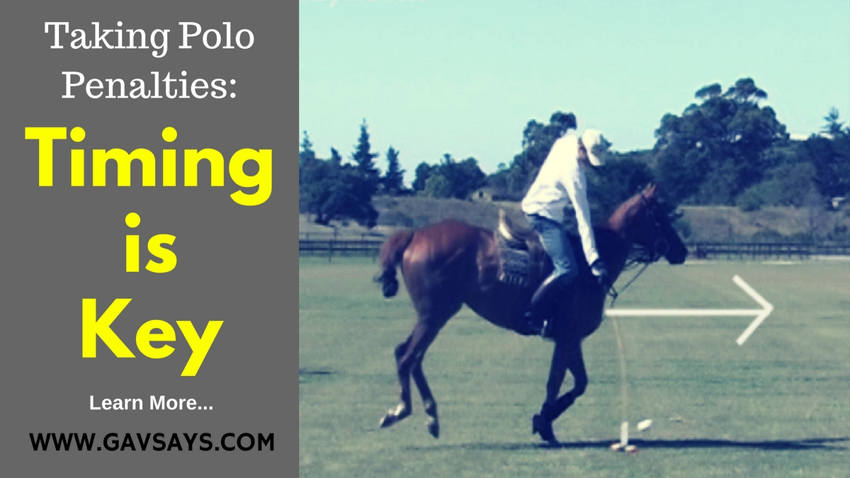 Timing is Key for when hitting penalties at Polo...