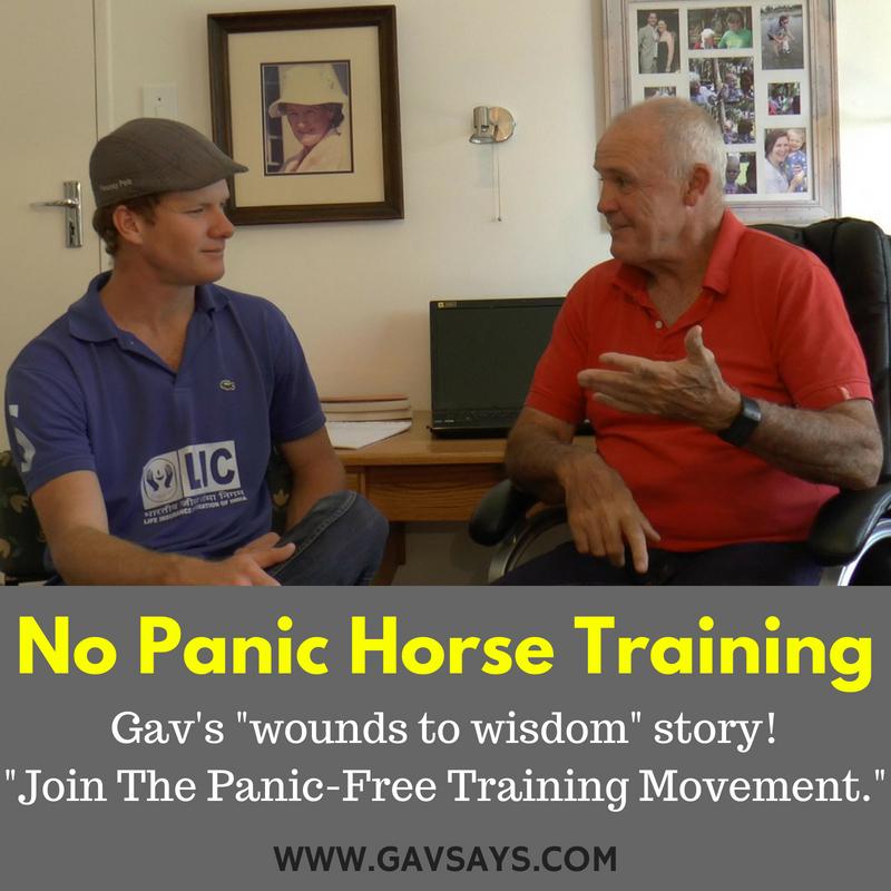 No Panic Training - Gav's Dyslexia & Relating it to Horse Training